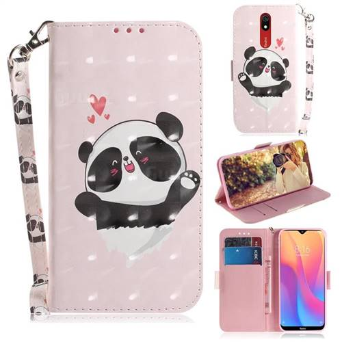 Heart Cat 3D Painted Leather Wallet Phone Case for Mi Xiaomi Redmi 8A