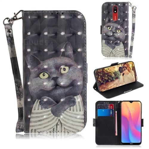 Cat Embrace 3D Painted Leather Wallet Phone Case for Mi Xiaomi Redmi 8A