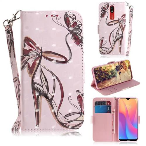 Butterfly High Heels 3D Painted Leather Wallet Phone Case for Mi Xiaomi Redmi 8A