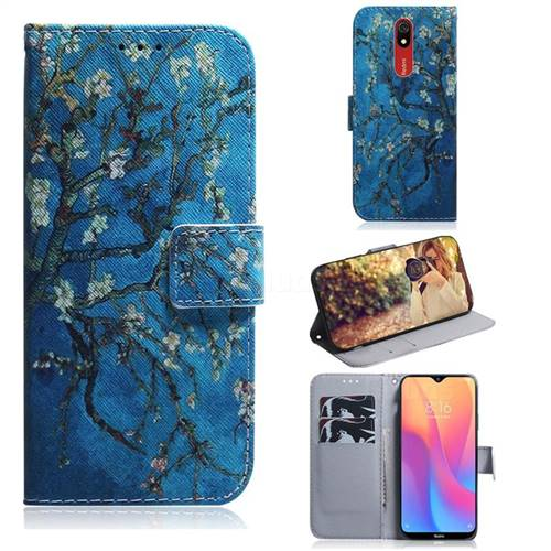 Apricot Tree PU Leather Wallet Case for Mi Xiaomi Redmi 8A