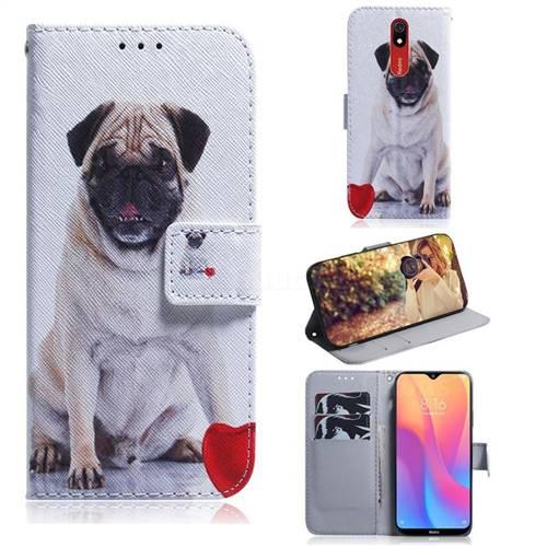 Pug Dog PU Leather Wallet Case for Mi Xiaomi Redmi 8A