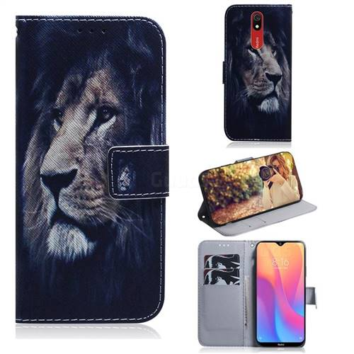 Lion Face PU Leather Wallet Case for Mi Xiaomi Redmi 8A