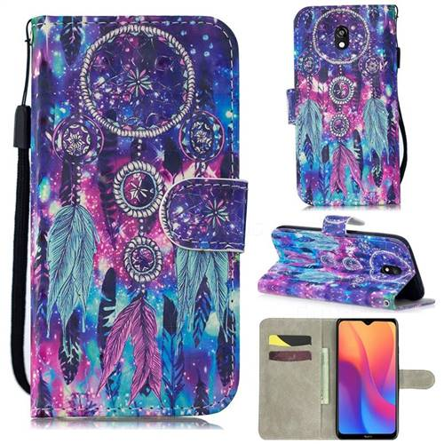 Star Wind Chimes 3D Painted Leather Wallet Phone Case for Mi Xiaomi Redmi 8A
