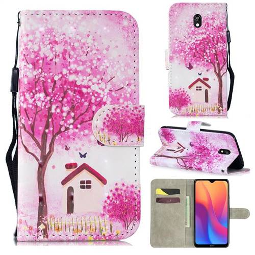 Tree House 3D Painted Leather Wallet Phone Case for Mi Xiaomi Redmi 8A