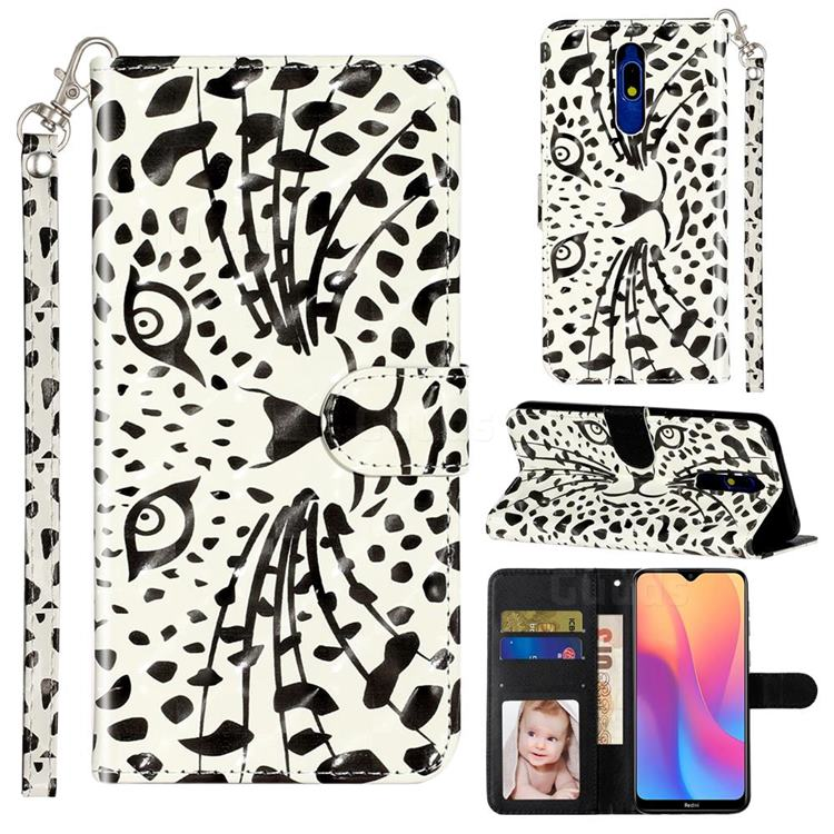 Leopard Panther 3D Leather Phone Holster Wallet Case for Mi Xiaomi Redmi 8A