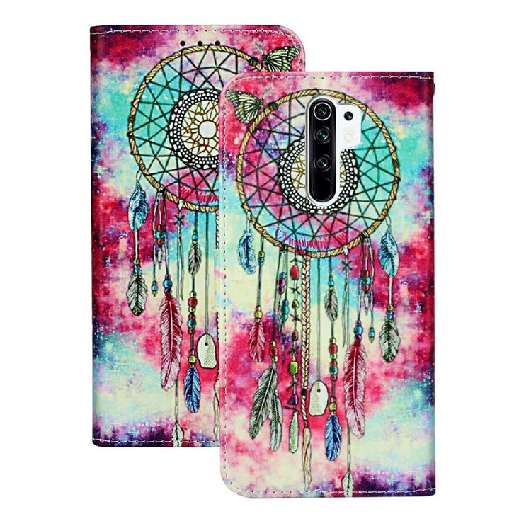 Butterfly Chimes PU Leather Wallet Case for Xiaomi Redmi 9