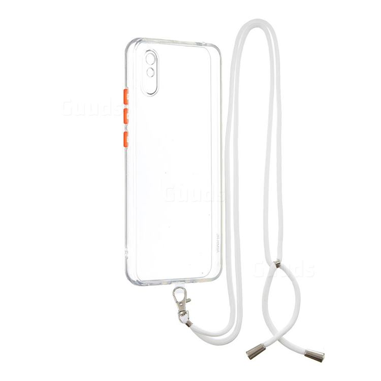 Necklace Cross-body Lanyard Strap Cord Phone Case Cover for Xiaomi Redmi 9A - Transparent