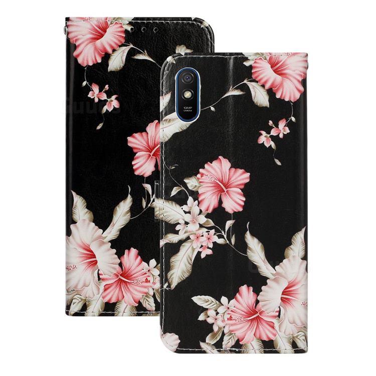 Azalea Flower PU Leather Wallet Case for Xiaomi Redmi 9A