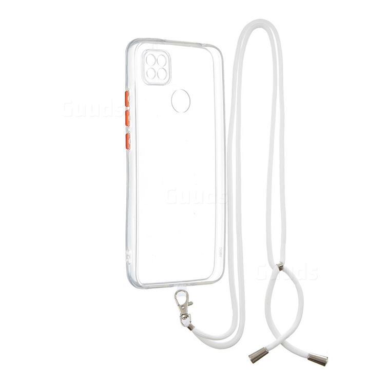 Necklace Cross-body Lanyard Strap Cord Phone Case Cover for Xiaomi Redmi 9C - Transparent