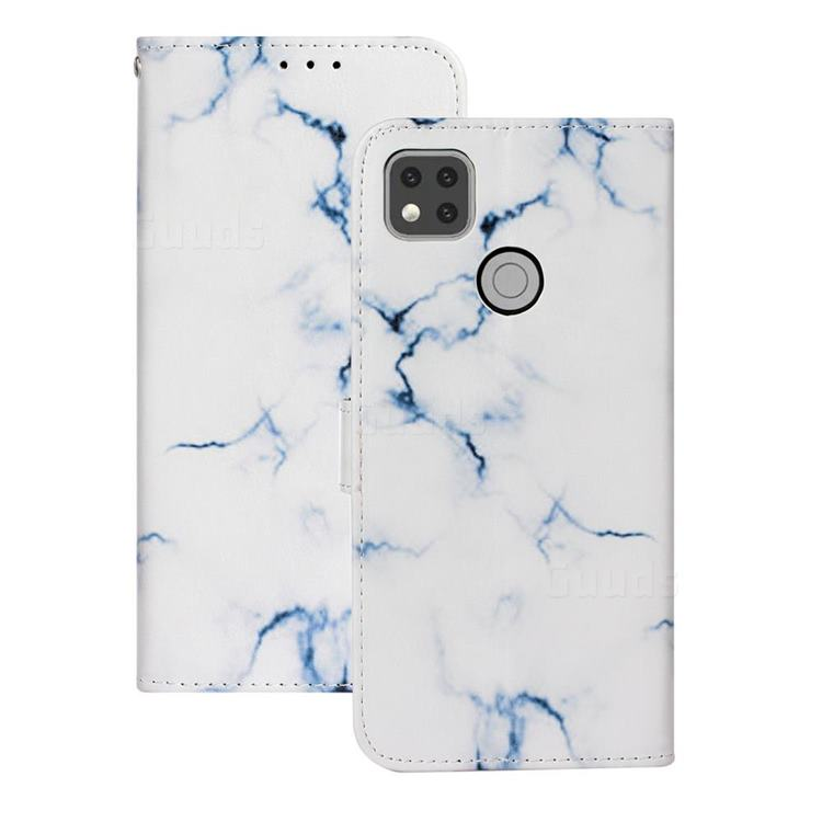 Soft White Marble PU Leather Wallet Case for Xiaomi Redmi 9C