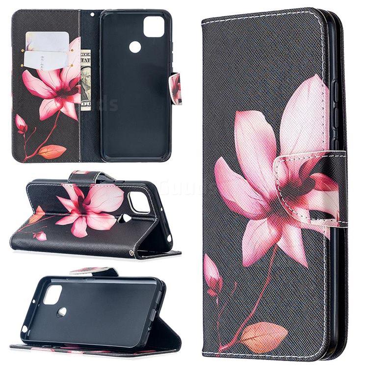 Lotus Flower Leather Wallet Case for Xiaomi Redmi 9C