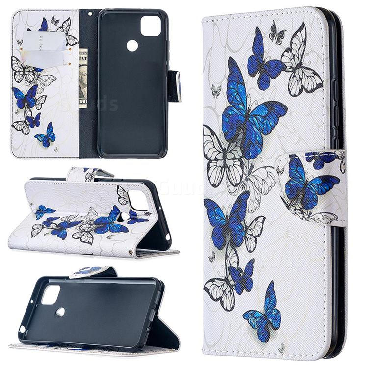 Flying Butterflies Leather Wallet Case for Xiaomi Redmi 9C