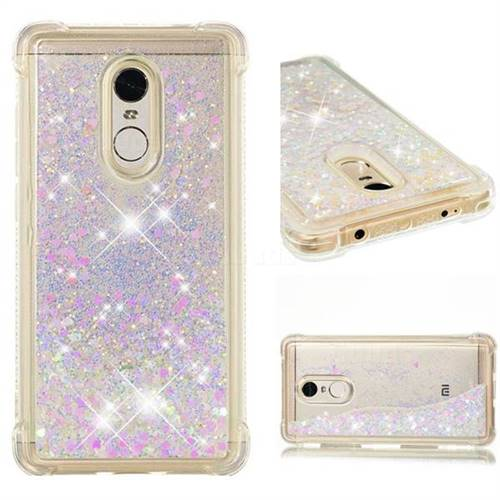 Dynamic Liquid Glitter Sand Quicksand Star TPU Case for Xiaomi Redmi Note 4 Red Mi Note4 - Pink