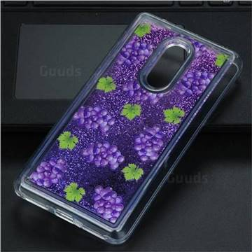 Purple Grape Glassy Glitter Quicksand Dynamic Liquid Soft Phone Case for Xiaomi Redmi Note 4 Red Mi Note4