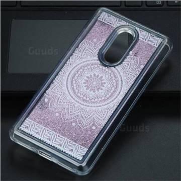 Mandala Glassy Glitter Quicksand Dynamic Liquid Soft Phone Case for Xiaomi Redmi Note 4 Red Mi Note4
