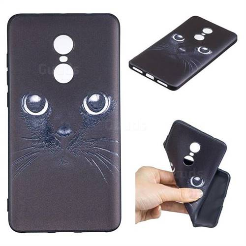 Bearded Feline 3D Embossed Relief Black TPU Cell Phone Back Cover for Xiaomi Redmi Note 4 Red Mi Note4