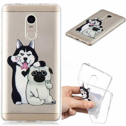 Selfie Dog Clear Varnish Soft Phone Back Cover for Xiaomi Redmi Note 4 Red Mi Note4
