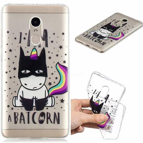 Batman Clear Varnish Soft Phone Back Cover for Xiaomi Redmi Note 4 Red Mi Note4