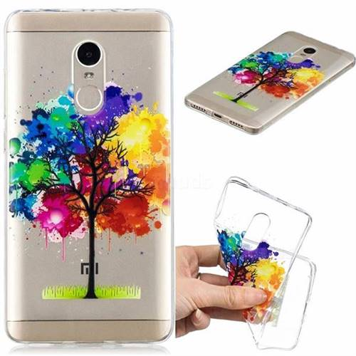 Oil Painting Tree Clear Varnish Soft Phone Back Cover for Xiaomi Redmi Note 4 Red Mi Note4