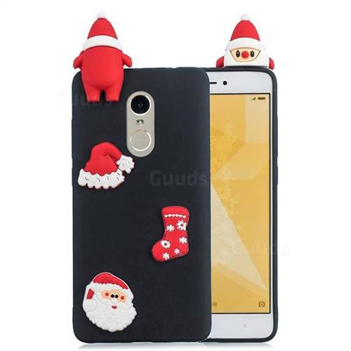 Black Santa Claus Christmas Xmax Soft 3D Silicone Case for Xiaomi Redmi Note 4 Red Mi Note4