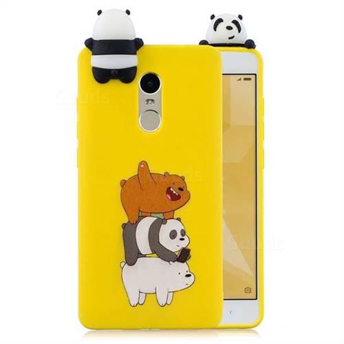 best website b2a39 31365 Striped Bear Soft 3D Climbing Doll Soft Case for Xiaomi Redmi Note 4 Red Mi  Note4