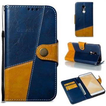 Retro Magnetic Stitching Wallet Flip Cover for Xiaomi Redmi Note 4 Red Mi Note4 - Blue