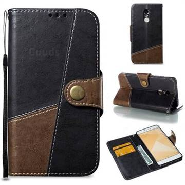 Retro Magnetic Stitching Wallet Flip Cover for Xiaomi Redmi Note 4 Red Mi Note4 - Dark Gray