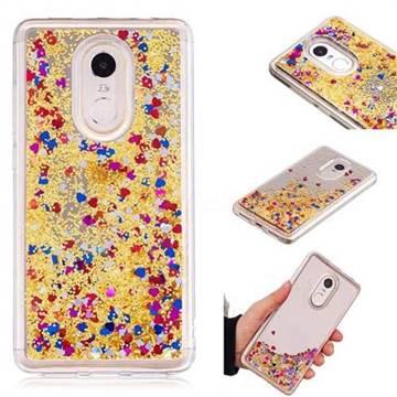 Glitter Sand Mirror Quicksand Dynamic Liquid Star TPU Case for Xiaomi Redmi Note 4X - Yellow