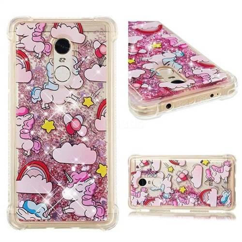 Angel Pony Dynamic Liquid Glitter Sand Quicksand Star TPU Case for Xiaomi Redmi Note 4X