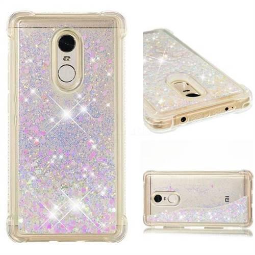 Dynamic Liquid Glitter Sand Quicksand Star TPU Case for Xiaomi Redmi Note 4X - Pink