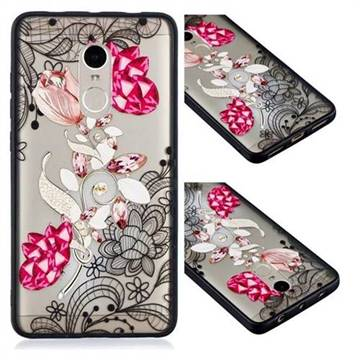 Tulip Lace Diamond Flower Soft TPU Back Cover for Xiaomi Redmi Note 4X