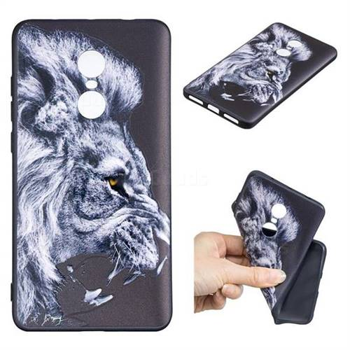 Lion 3D Embossed Relief Black TPU Cell Phone Back Cover for Xiaomi Redmi Note 4X