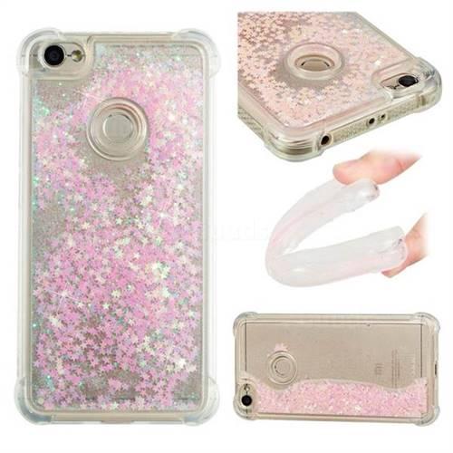 Dynamic Liquid Glitter Sand Quicksand TPU Case for Xiaomi Redmi Note 5A - Silver Powder Star