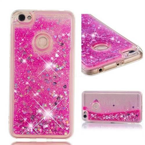 Dynamic Liquid Glitter Quicksand Sequins TPU Phone Case for Xiaomi Redmi Note 5A - Rose