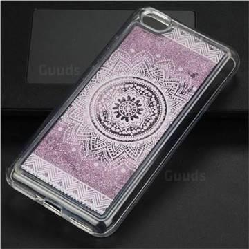 Mandala Glassy Glitter Quicksand Dynamic Liquid Soft Phone Case for Xiaomi Redmi Note 5A