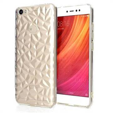 Diamond Pattern Shining Soft TPU Phone Back Cover for Xiaomi Redmi Note 5A - Transparent