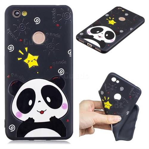 Cute Bear 3D Embossed Relief Black TPU Cell Phone Back Cover for Xiaomi Redmi Note 5A