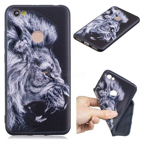 Lion 3D Embossed Relief Black TPU Cell Phone Back Cover for Xiaomi Redmi Note 5A