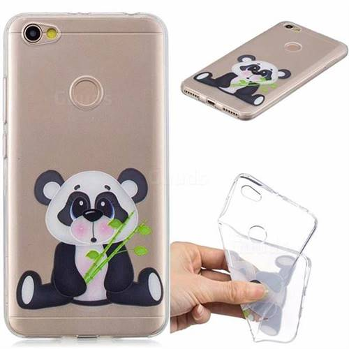 Bamboo Panda Clear Varnish Soft Phone Back Cover for Xiaomi Redmi Note 5A