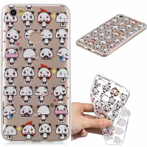 Mini Panda Clear Varnish Soft Phone Back Cover for Xiaomi Redmi Note 5A
