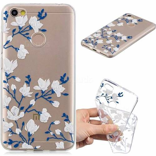 Magnolia Flower Clear Varnish Soft Phone Back Cover for Xiaomi Redmi Note 5A