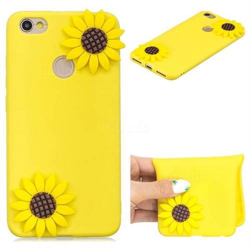 Yellow Sunflower Soft 3D Silicone Case for Xiaomi Redmi Note 5A