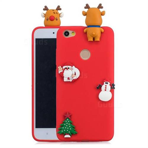 Red Elk Christmas Xmax Soft 3D Silicone Case for Xiaomi Redmi Note 5A