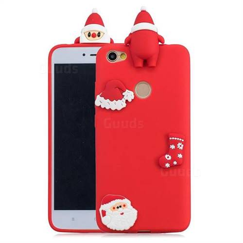 Red Santa Claus Christmas Xmax Soft 3D Silicone Case for Xiaomi Redmi Note 5A