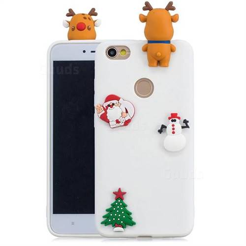 White Elk Christmas Xmax Soft 3D Silicone Case for Xiaomi Redmi Note 5A
