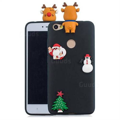 Black Elk Christmas Xmax Soft 3D Silicone Case for Xiaomi Redmi Note 5A