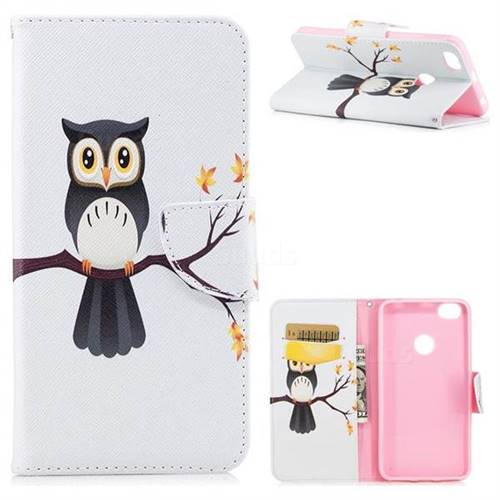Owl on Tree Leather Wallet Case for Xiaomi Redmi Note 5A