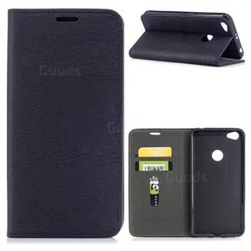 Tree Bark Pattern Automatic suction Leather Wallet Case for Xiaomi Redmi Note 5A - Black