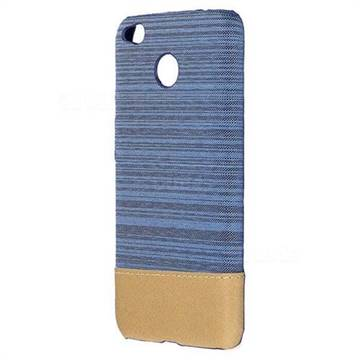 Canvas Cloth Coated Plastic Back Cover for Xiaomi Redmi Note 5A - Light Blue