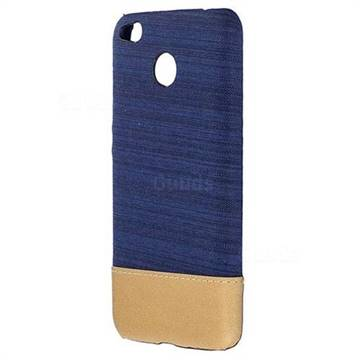 Canvas Cloth Coated Plastic Back Cover for Xiaomi Redmi Note 5A - Dark Blue